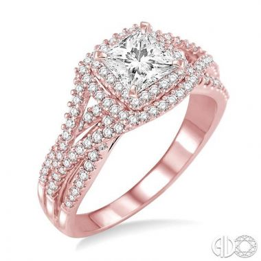 Ashi Diamonds 14k Rose Gold I Do Collection Diamond Ring - 260C1DJFHPG-LE