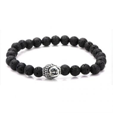 Inox Black Stainless Steel Charm Bracelet