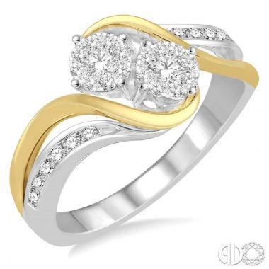 Ashi Diamonds 14k Two-Tone Gold Lovebright Collection Diamond Ring - 444B4DJFHWY