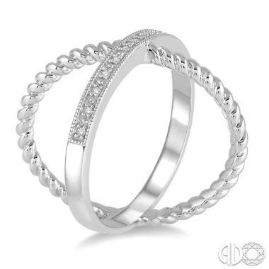 Ashi Diamonds Sterling Silver Stones Collection Diamond Ring - 86369DJSSSLRG