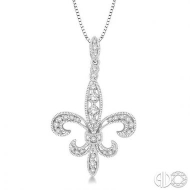 Ashi Diamonds 14k White Gold Diamond Pendant - 96195DJFHPDWG