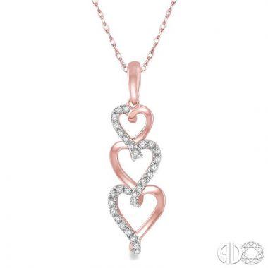 Ashi Diamonds 10k Rose Gold Heart Collection Diamond Pendant - 98218DJTSPDPG