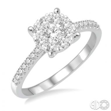 Ashi Diamonds 14k White Gold Lovebright Collection Diamond Ring - 150C2DJFVWG