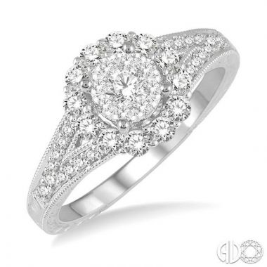 Ashi Diamonds 14k White Gold Lovebright Collection Diamond Ring - 13403DJFVWG-LE