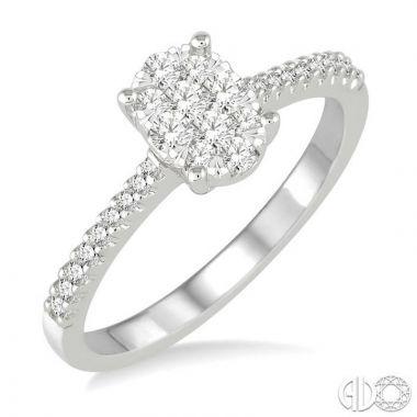 Ashi Diamonds 14k White Gold Lovebright Collection Diamond Ring - 149C4DJFVWG
