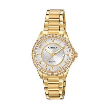 Citizen Yellow Stainless Steel Watch