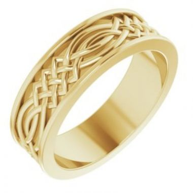 14K Yellow 6 mm Celtic-Inspired Band Size 7