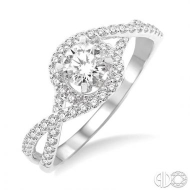 Ashi Diamonds 14k White Gold I Do Collection Diamond Ring - 22563DJFVWG-LE