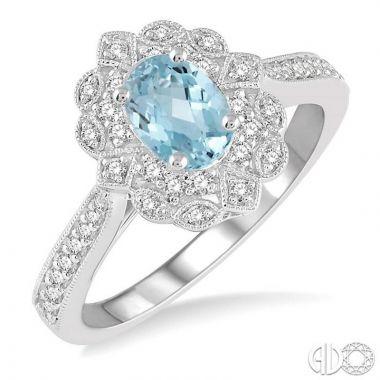 Ashi Diamonds 14k White Gold Diamond & Gemstone Ring - 50635DJFHAQWG