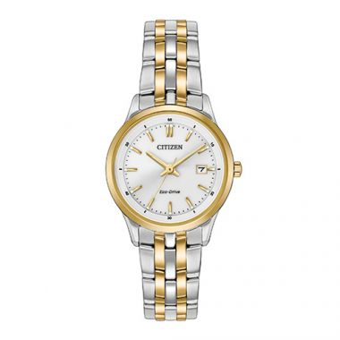 Citizen Eco Drive White Stainless Steel Watch