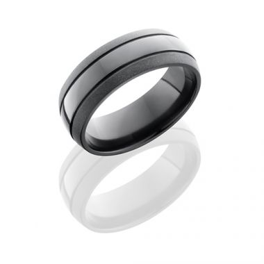 Lashbrook Black Titanium Alternative Metal Wedding Band