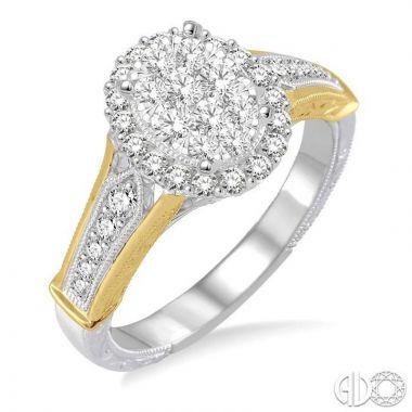 Ashi Diamonds 14k Two-Tone Gold Lovebright Collection Diamond Ring - 128B3DJFVWY