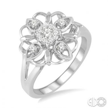 Ashi Diamonds 14k White Gold Lovebright Collection Diamond Ring - 33076DJFHWG