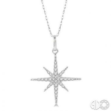 Ashi Diamonds 10k White Gold Diamond Pendant - 90238DJTSPDWG