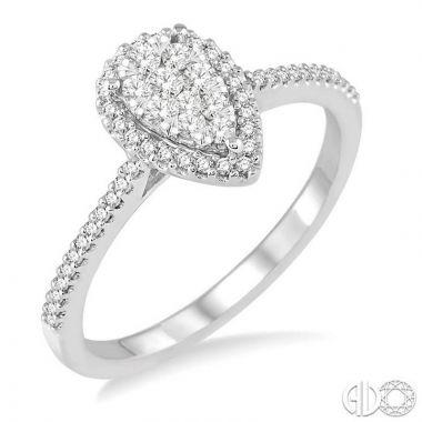 Ashi Diamonds 14k White Gold Lovebright Collection Diamond Ring - 13255DJFVWG