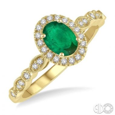 Ashi Diamonds 10k Yellow Gold Diamond & Gemstone Ring - 42698DJTSEMYG
