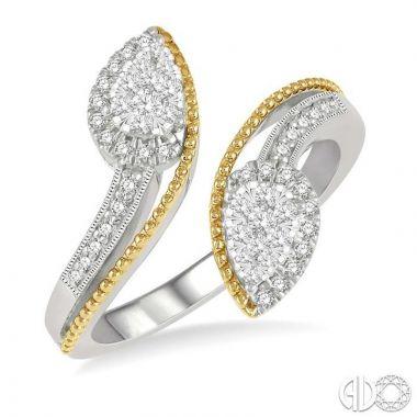 Ashi Diamonds 14k Two-Tone Gold Lovebright Collection Diamond Ring - 365N5DJFHWY