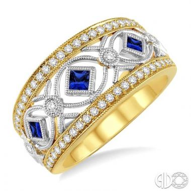 Ashi Diamonds 14k Two-Tone Gold Diamond & Gemstone Ring - 34185DJFHSPYW
