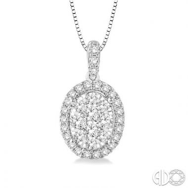 Ashi Diamonds 14k White Gold Lovebright Collection Diamond Pendant - 96075DJFVPDWG