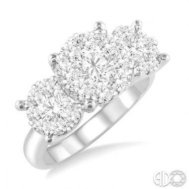 Ashi Diamonds 14k White Gold Lovebright Collection Diamond Ring - 36920DJFVWG-2.00