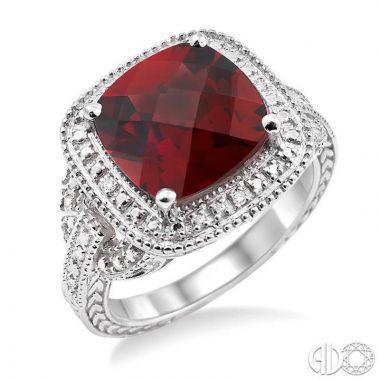 Ashi Diamonds Sterling Silver Diamond & Gemstone Ring - 88139DJSSGTSLRG