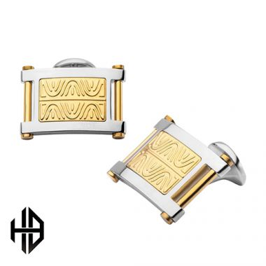 Inox Yellow Stainless Steel Cufflink