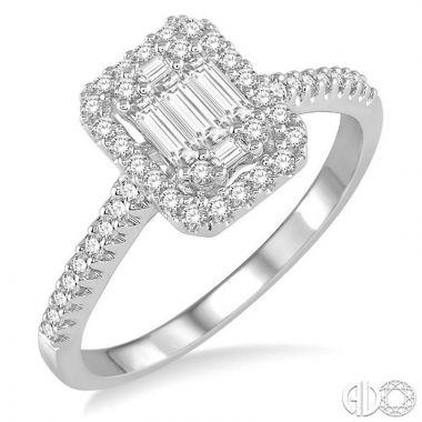 Ashi Diamonds 14k White Gold Fushion Diamonds Collection Ring - 112A2DJFRWG