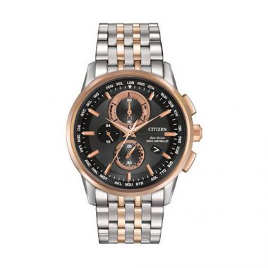 Citizen Black Stainless Steel Diamond Chronograph Watch