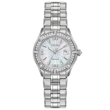 Citizen The Signature White Stainless Steel Diamond Watch