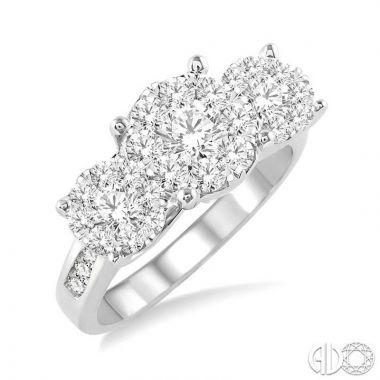 Ashi Diamonds 14k White Gold Lovebright Collection Diamond Ring - 36910DJFVWG-1.50