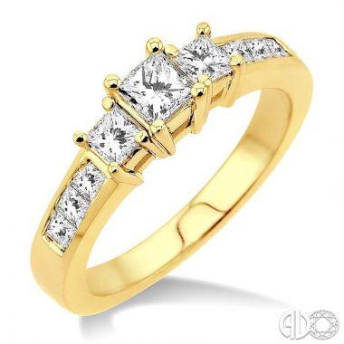 Ashi Diamonds 14k Yellow Gold I Do Collection Diamond Ring - 25821DJFR-LE
