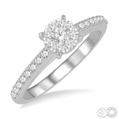 Ashi Diamonds 14k White Gold Lovebright Collection Diamond Ring - 13533DJFVWG-LE