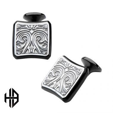 Inox Black Stainless Steel Cufflink