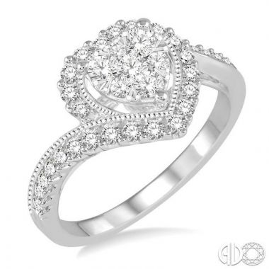 Ashi Diamonds 14k White Gold Lovebright Collection Diamond Ring - 158B3DJFVWG