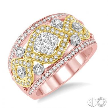 Ashi Diamonds 14k Tri-Tone Gold Lovebright Collection Diamond Ring - 356A1DJFH3T