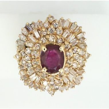 Dahlkempers Estate 14k Yellow Gold Diamond Ring