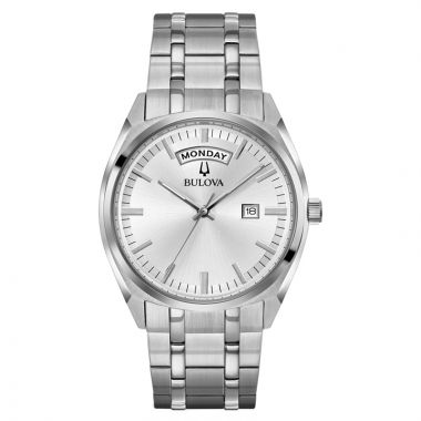 Bulova Surveyor Classic White Stainless Steel Quartz Watch