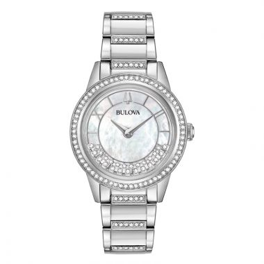 Bulova Turn Style White Stainless Steel Bracelet Watch