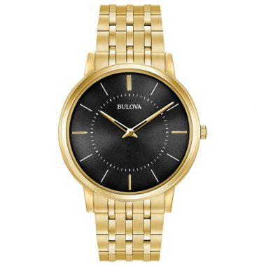 Bulova Classic Yellow Stainless Steel Quartz Watch