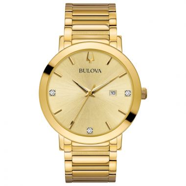 Bulova Futuro Modern Yellow Stainless Steel Diamond Quartz Watch