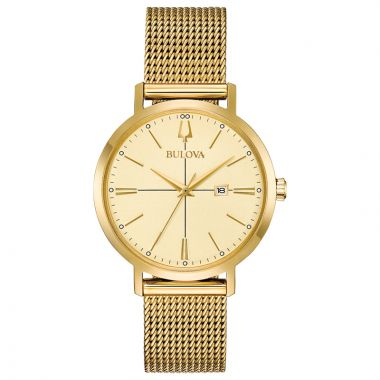 Bulova Aerojet Yellow Stainless Steel Quartz Watch