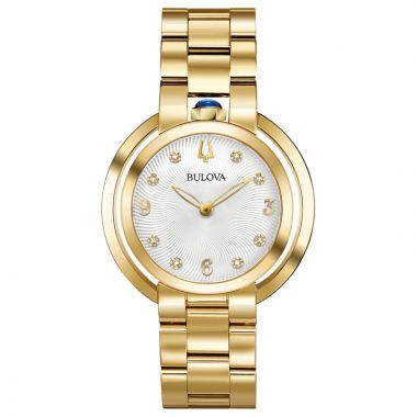 Bulova Rubaiyat Yellow Stainless Steel Diamond Quartz Watch