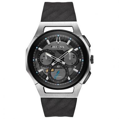 Bulova Curv White Stainless Steel Chronograph Quartz Watch