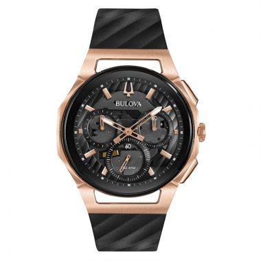 Bulova Curv Rose Stainless Steel Chronograph Quartz Watch