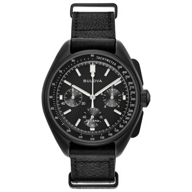 Bulova Lunar Pilot Black Stainless Steel Chronograph Quartz Watch