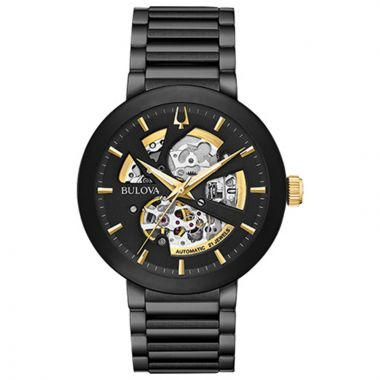 Bulova Futuro Modern Black Stainless Steel Automatic Watch