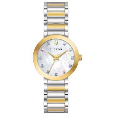 Bulova Futuro Modern Yellow Stainless Steel Diamond Bracelet Watch
