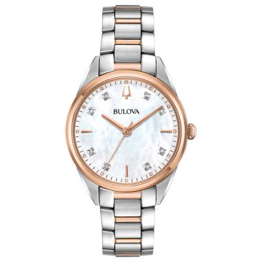 Bulova Sutton Rose Stainless Steel Diamond Quartz Watch