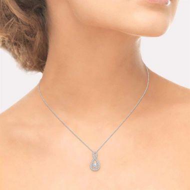Ashi Diamonds 14k White Gold Emotion Diamonds Pendant - 69014DJFHPDWG