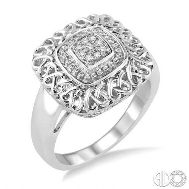 Ashi Diamonds Sterling Silver Stones Collection Diamond Ring - 87679DJSSSLRG